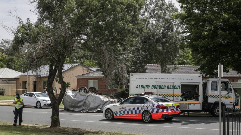 Crash site in Albury, NSW, that Paul Marshall attended in late in 2018.