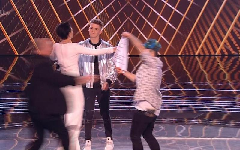 The stage was unexpectedly invaded - Credit: ITV