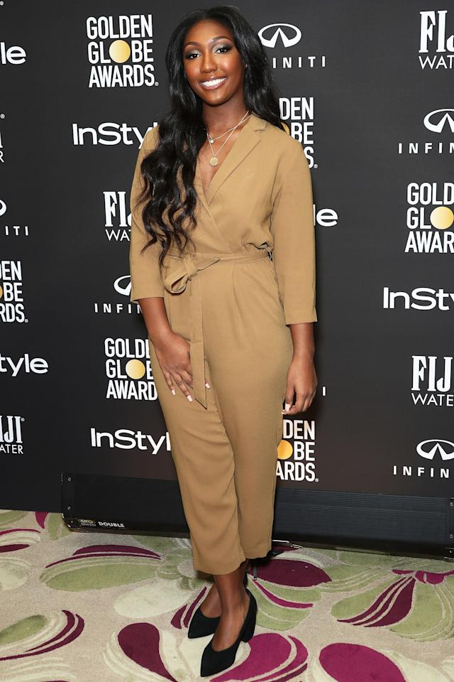 """Move over, <a href=""""https://people.com/movies/idris-elba-sexiest-man-alive-2018-reveal/"""">Sexiest Man Alive</a> — it's Isan's turn to have the spotlight. The 16-year-old daughter of Idris Elba and exKim Elba<a href=""""https://people.com/movies/idris-elba-daughter-isan-named-2019-golden-globe-ambassador/"""">was named Golden Globe Ambassador in a November 2018 ceremony in L.A</a>.  """"I've always been a lover TV and movies and I dream to be in the industry one day,"""" she said while thanking her parents. """"I'm really honored to have this position and be able to talk about things that, issues that I care about such as mental health, expression among African Americans, and my peers in particular. There's a perceived stigma and I've seen my friends struggle with it.""""  In a chat with PEOPLE, Elba said her famous father texted her the big news.  """"I literally, I was like, 'Are you sure?' Because, you know, he deals with, you know, cool stuff all the time so I was like, 'Are you sending this to the right person?'"""" she said. """"And I showed my mom, I was like, 'Mom, dad just told me I'm the Golden Globe Ambassador,' and she was like, 'Yeah, you are!'""""  She continued, """"So I was literally flipping out! It was surreal and so I'm really honored to have this and be a part of the Golden Globes that I always watched my whole life and now being able to go on stage and touch a Golden Globe and meet people that are winning Golden Globes is really cool."""""""