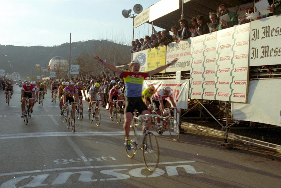 John Talen wins stage 1 of the 1990 Tirreno-Adriatico