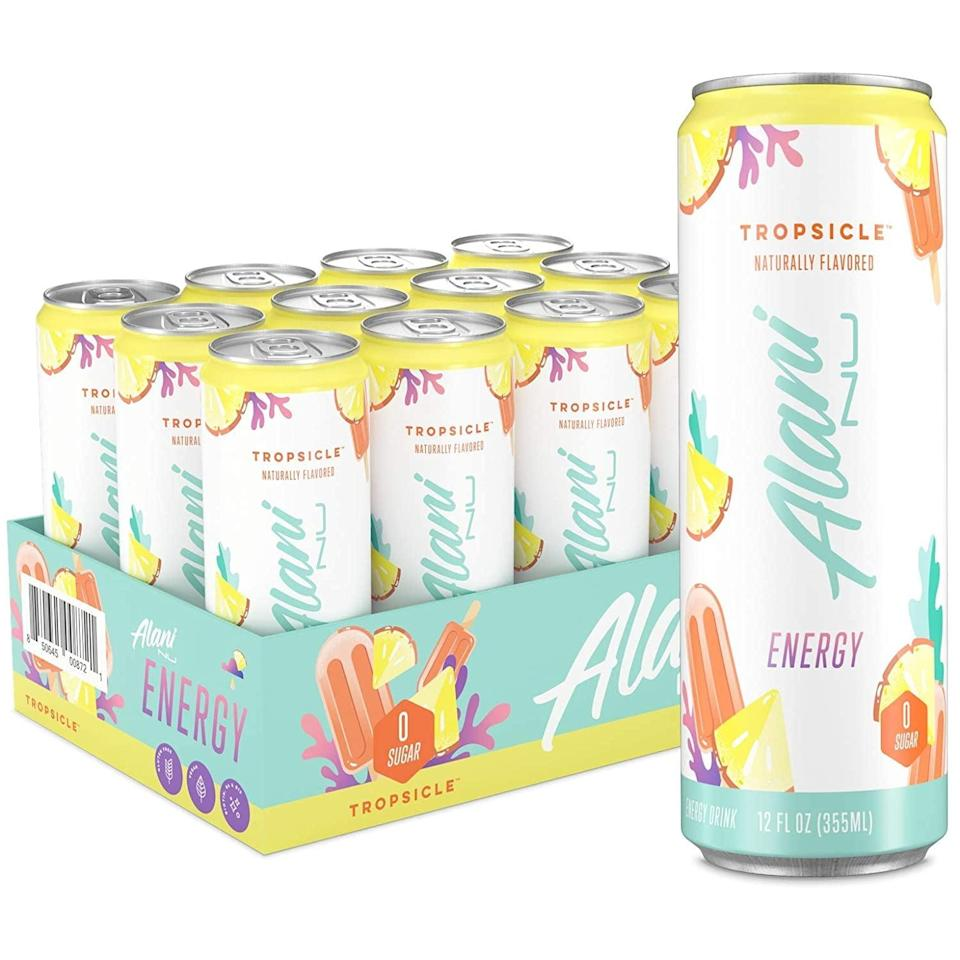 <p>Give your workouts that extra boost and drive with the <span>Alani Nu Sugar-Free Energy Drink</span> ($30 for 12). It tastes like summer in a can!</p>
