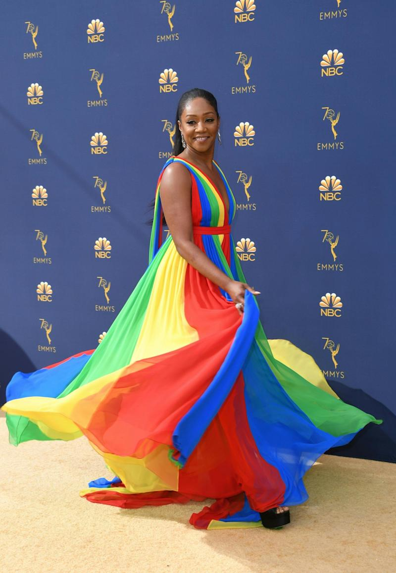Tiffany Haddish wearing Prabal Gurung (AFP/Getty Images)