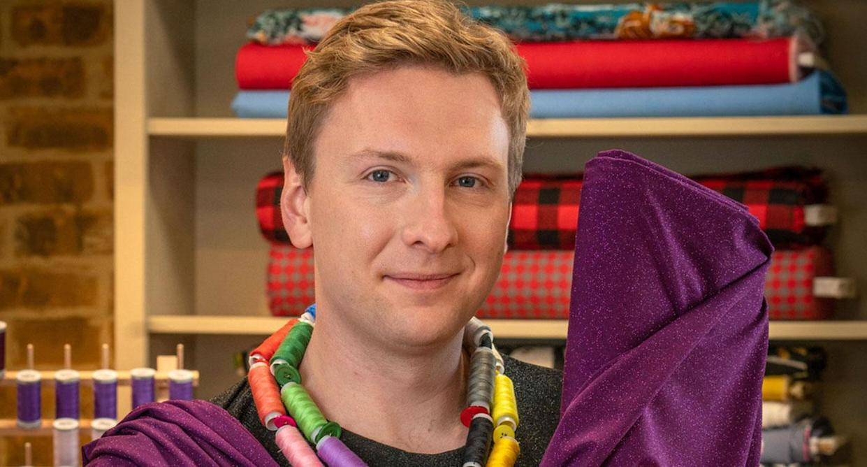 Joe Lycett as host of the The Great British Sewing Bee (BBC)