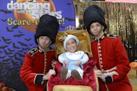 <p>One of the more committed costumes of all time was Lara's Prince George impersonation — stroller and all — on GMA in 2014. <br></p>