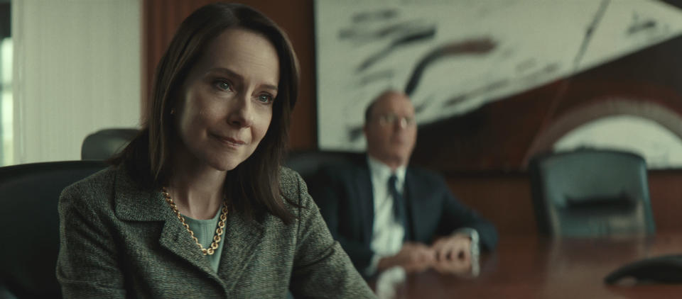 """This image released by Netflix shows Amy Ryan in a scene from """"Worth."""" (Netflix via AP)"""