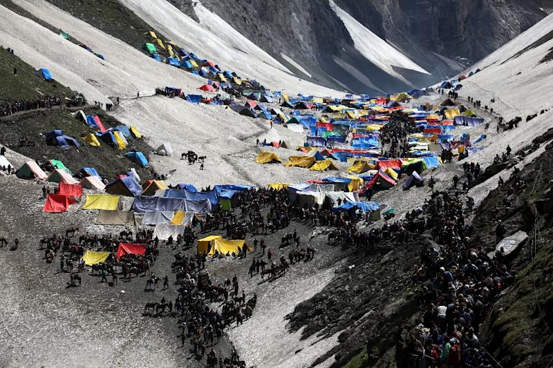 Tens of thousands of Hindus from all over India travel to Kashmir every year to visit a phallus-shaped ice formation in the Amarnath caves that is worshipped as a symbol of Shiva, the Hindu god of destruction