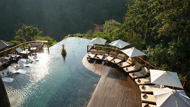 The main pool at the Hanging Gardens of Bali hotel in Ubud