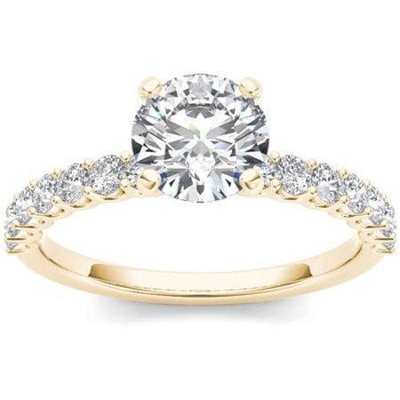 <p>You can't go wrong with this <span>Imperial Diamond Diamond Yellow Gold Engagement Ring</span> ($1,230).</p>
