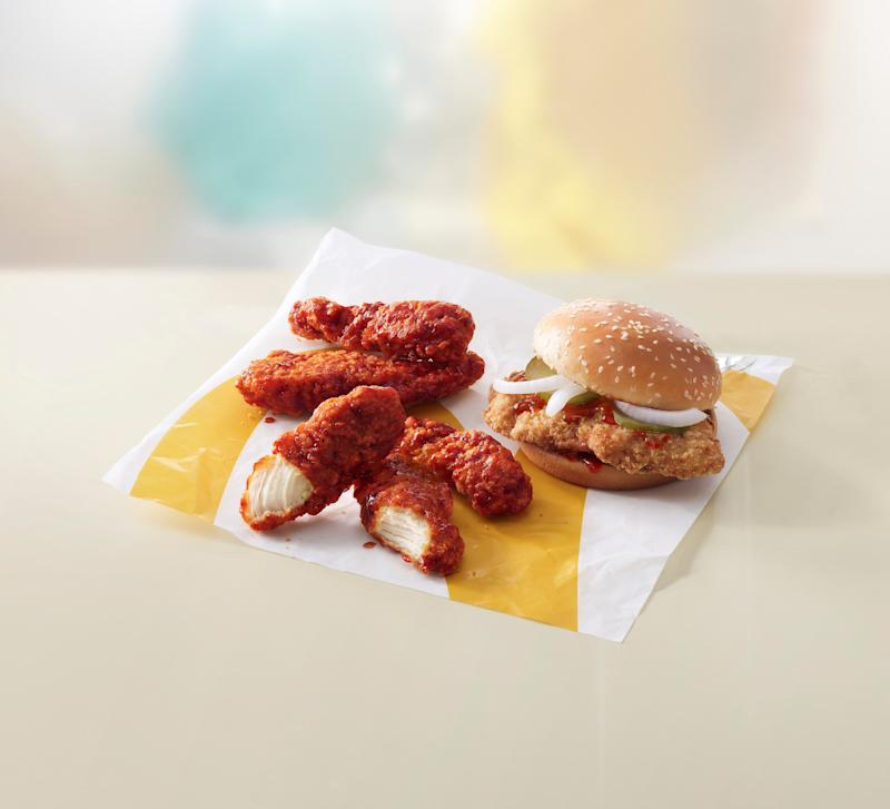 McDonald's spicy chicken sandwich and BBQ glazed chicken tenders (Courtesy of McDonald's)