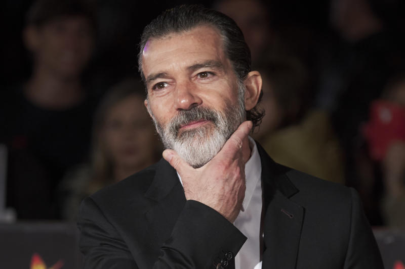 Spanish actor Antonio Banderas attends the 20th Malaga Film Festival closing ceremony at the Cervantes Teather on March 25, 2017 in Malaga, Spain.
