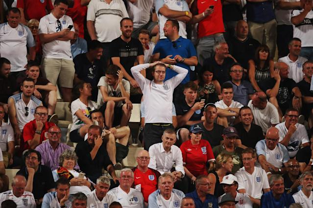 England fans jeered the team after a goalless first half in Malta