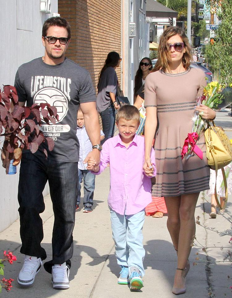 51124209 'Pain & Gain' actor Mark Wahlberg, his wife Rhea, and their kids attend a party in West Hollywood, California on June 8, 2013. FameFlynet, Inc - Beverly Hills, CA, USA - 1 (818) 307-4813