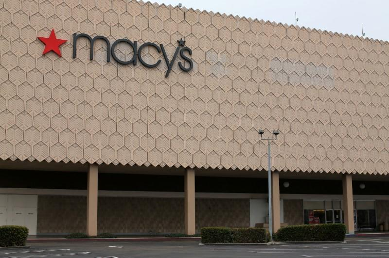 One of the 68 Macy's Inc stores the company plans to close is shown at the Mission Valley Center mall in San Diego, California