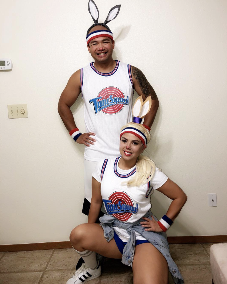 """<p>What's old is new again, and <a href=""""https://www.instagram.com/p/BpfXX95hmfi/"""" rel=""""nofollow noopener"""" target=""""_blank"""" data-ylk=""""slk:this old-school Space Jam costume"""" class=""""link rapid-noclick-resp"""">this old-school <em>Space Jam </em>costume</a> has never been so relevant. </p><p><a class=""""link rapid-noclick-resp"""" href=""""https://www.amazon.com/TUEIKGU-Basketball-Jersey-Space-X-Large/dp/B07G332WDK/?tag=syn-yahoo-20&ascsubtag=%5Bartid%7C10072.g.37059504%5Bsrc%7Cyahoo-us"""" rel=""""nofollow noopener"""" target=""""_blank"""" data-ylk=""""slk:SHOP JERSEY"""">SHOP JERSEY</a></p>"""