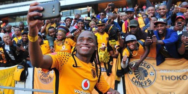 "Local soccer star Siphiwe ""Shabba"" Tshabalala was among many South Africans"