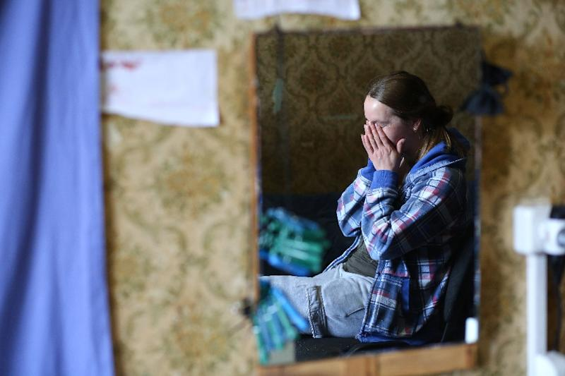 Natalia Nikitchenko, 37, had to flee her home because of the conflict in eastern Ukraine: now she is fighting to recover her right to vote (AFP Photo/ALEKSEY FILIPPOV)