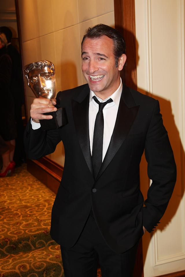 LONDON, ENGLAND - FEBRUARY 12:  (UK TABLOID NEWSPAPERS OUT) Jean Dujardin attends The Orange British Academy Film Awards 2012 afterparty at The Grosvenor House Hotel on February 12, 2012 in London, England.  (Photo by Dave Hogan/Getty Images)
