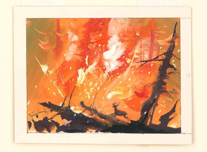 Bambi visual development, 1942, watercolor on paper