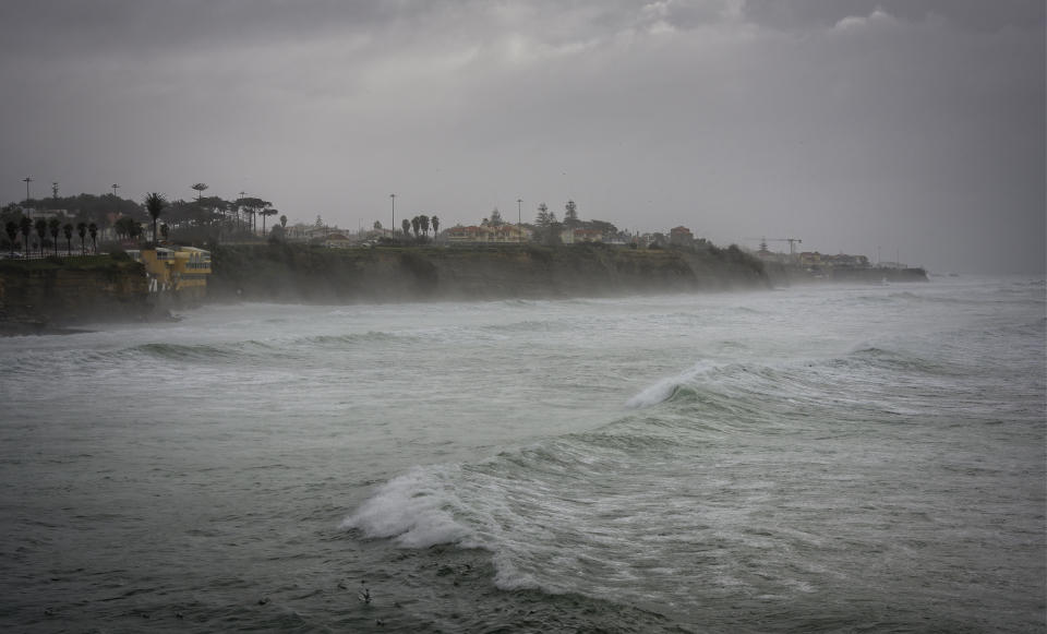Stormy weather after Storm Fabien hit Ponta do Sal in Portugal. (Getty)
