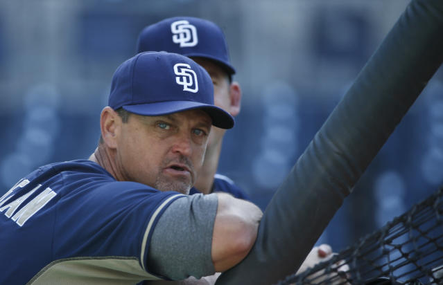 Trevor Hoffman might get into the Hall of Fame in 2018. (AP Photo)