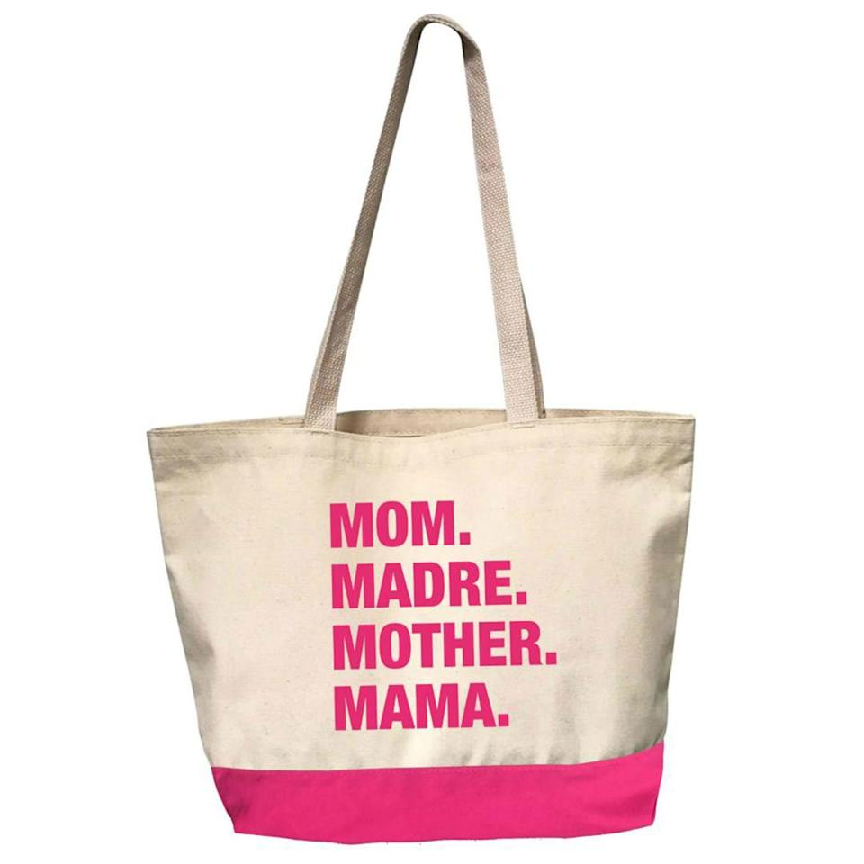 "Each Espwa 4 Things Dear Mama Tote currently supports expectant moms in rural Haiti. I love carrying something cute and useful that also provides lifesaving maternal healthcare to moms and babies in Central Plateau, Haiti.   <strong>Buy</strong> <strong>It! </strong>Espwa 4 Things Dear Mama Tote ($37), <a href=""https://www.theshopforward.com/collections/4-things-tote-bags/products/4-things-dear-mama-tote-pink-edition"">theshopforward.com</a>"