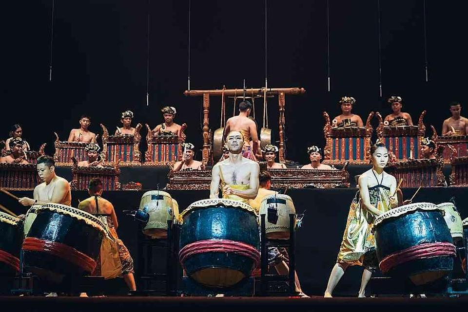 Gamelan meets Chinese lion drums in Hands Percussion's 'Taksu.' — Picture courtesy of Thum Chia Chieh