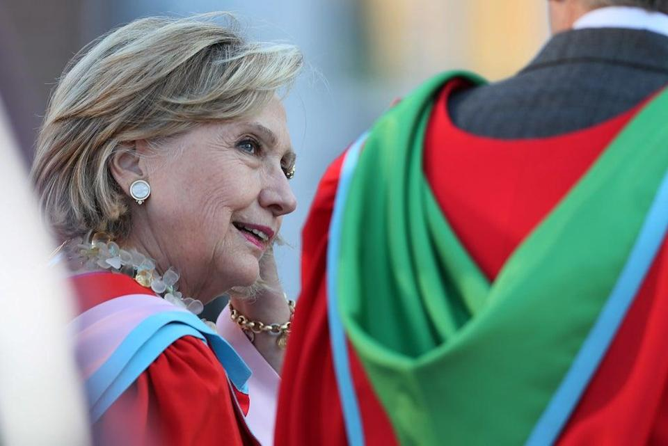 Hillary Clinton received an honorary degree from Queen's University in 2018 (PA) (PA Archive)