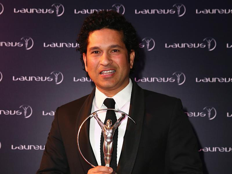 Former Cricketer Sachin Tendulkar of India attends the 2015 Laureus World Sports Awards: Getty Images