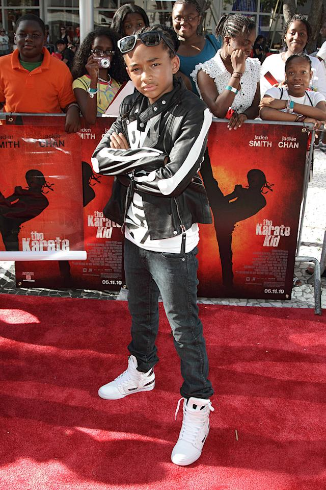 "<a href=""http://movies.yahoo.com/movie/contributor/1808510667"">Jaden Smith</a> at the Miami premiere of <a href=""http://movies.yahoo.com/movie/1810127520/info"">The Karate Kid</a> - 05/24/2010"