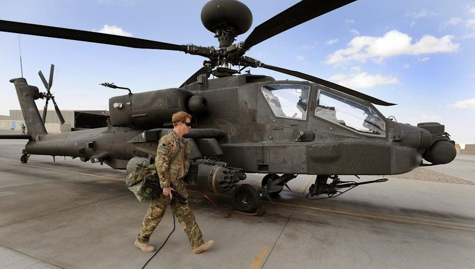 During Harry's second deployment to Afghanistan he served as an Apache helicopter co-pilot gunner (John Stillwell/PA) (PA Archive)