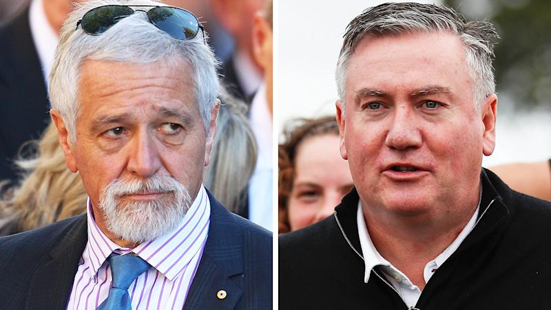 Neil Mitchell has fired an extraordinary broadside at Collingwood president Eddie McGuire over his comments in the media about the Jack Steven stabbing. Pictures: Getty Images