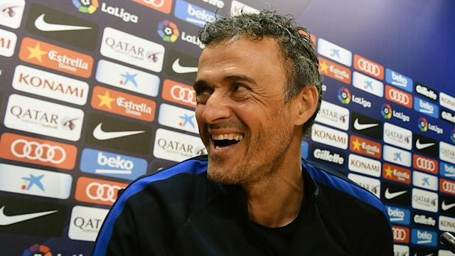 The Barcelona manager couldn't stop laughing and admitted news conferences can be a pain after he spotted a reporter snoozing through his session