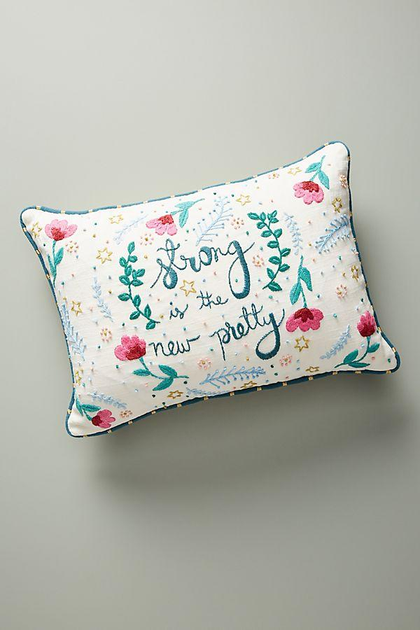 Sam Eldridge Floral Embroidered Pillow