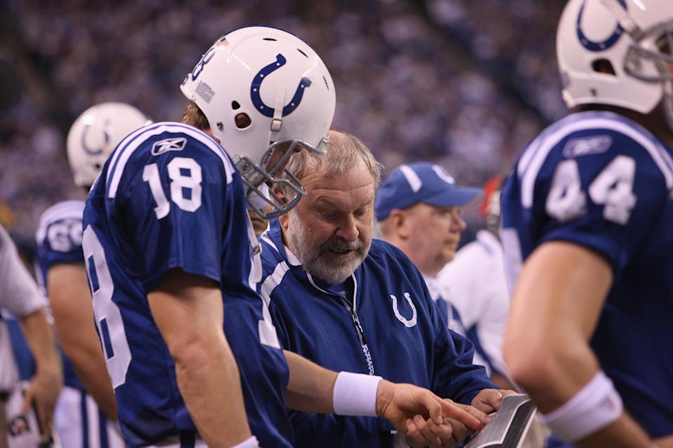Howard much instructs Peyton Manning.