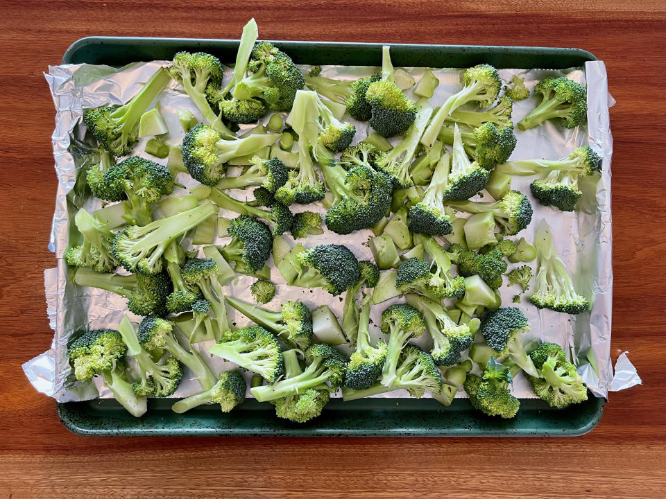 Broil your broccoli if you want to add a bit of char to your salad. (Ali Rosen)