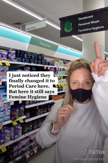 The better period tiktok woolworths period aisle