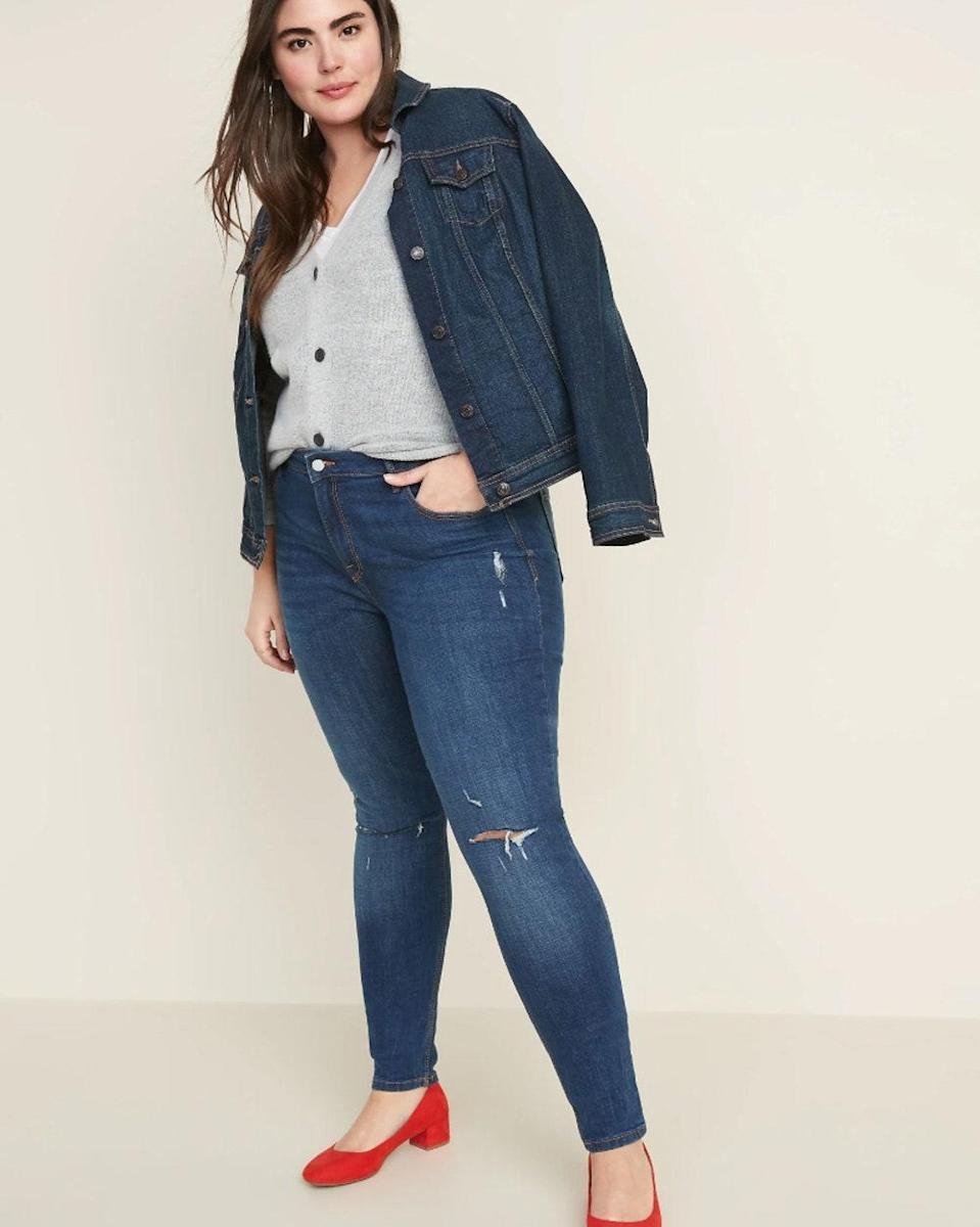 "I love these jeans because they provide tummy control and aren't too big around the butt, and for a short gal like me, the ""short"" length is perfect and I don't have to get them tailored. <em>—Maggie T., size 18–20, Everett, Wash.</em> $43, Old Navy. <a href=""https://oldnavy.gap.com/browse/product.do?pid=621497002&cid=1137794&pcid=85729&grid=pds_9_99_1#pdp-page-content"" rel=""nofollow noopener"" target=""_blank"" data-ylk=""slk:Get it now!"" class=""link rapid-noclick-resp"">Get it now!</a>"