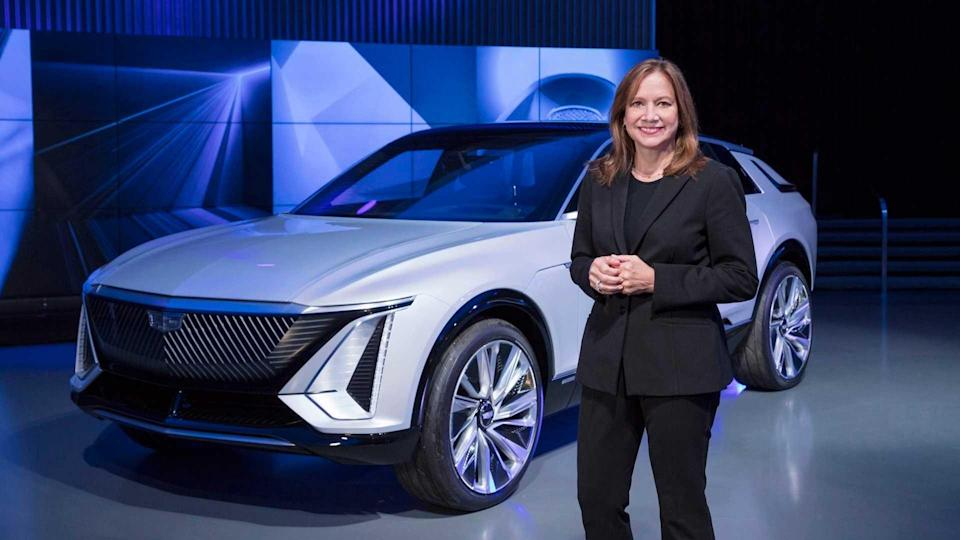 GM Chairman and CEO Mary Barra and Cadillac Lyriq