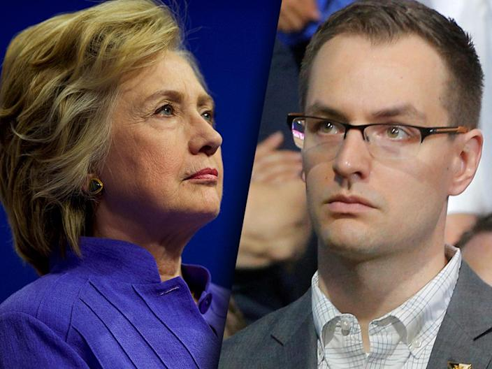 Democratic presidential candidate Hillary Clinton and her campaign manager, Robby Mook. (Photos: Getty, Brian Snyder/Reuters)