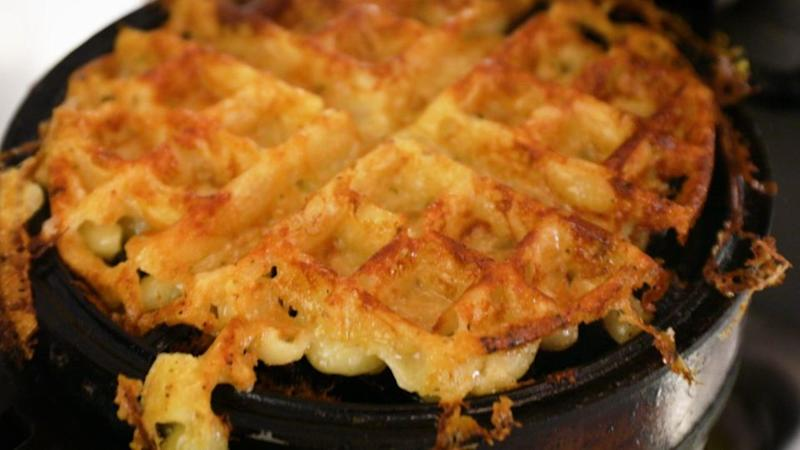 The mac and cheese waffle from Since I Left You