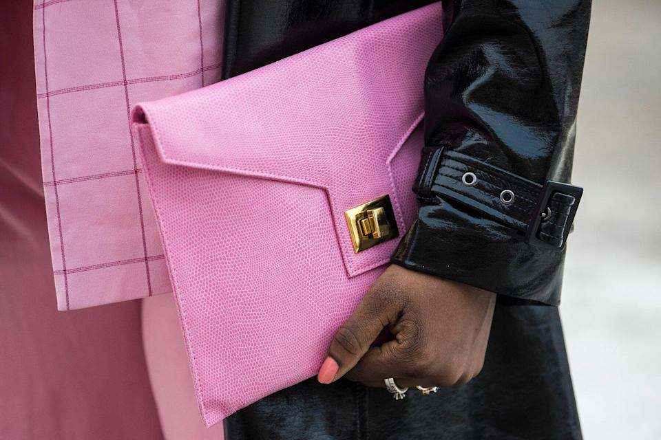 A bag from Gina Tricot during Stockholm Fashion Week