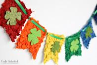 "<p>Kids will love crumpling the colorful tissue paper needed to craft this fun St. Patrick Day banner. The tutorial comes with a free printable to make the individual pennants. </p><p><strong>Get the tutorial at <a href=""http://blog.consumercrafts.com/kids-stuff/shamrock-rainbow-banner/"" rel=""nofollow noopener"" target=""_blank"" data-ylk=""slk:Crafts Unleashed"" class=""link rapid-noclick-resp"">Crafts Unleashed</a>.</strong></p><p><a class=""link rapid-noclick-resp"" href=""https://www.amazon.com/s?k=craft+tissue+paper&tag=syn-yahoo-20&ascsubtag=%5Bartid%7C2164.g.35012898%5Bsrc%7Cyahoo-us"" rel=""nofollow noopener"" target=""_blank"" data-ylk=""slk:SHOP TISSUE PAPER"">SHOP TISSUE PAPER</a><br></p>"