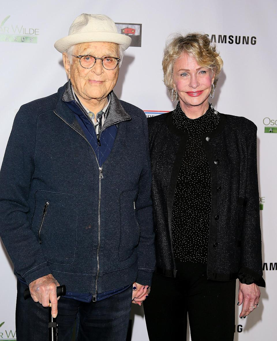 <p>In 1987, Lear wed current wife Lyn Davis (pictured with the producer in February 2020). Together they have son Benjamin and twin daughters Madeline and Brianna.</p>