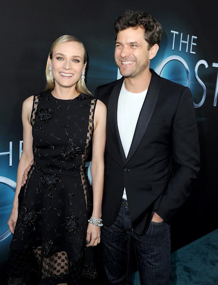 "HOLLYWOOD, CA - MARCH 19:  Actors Diane Kruger (L) and Joshua Jackson attend the premiere of Open Road Films ""The Host"" at ArcLight Cinemas Cinerama Dome on March 19, 2013 in Hollywood, California.  (Photo by Kevin Winter/Getty Images)"