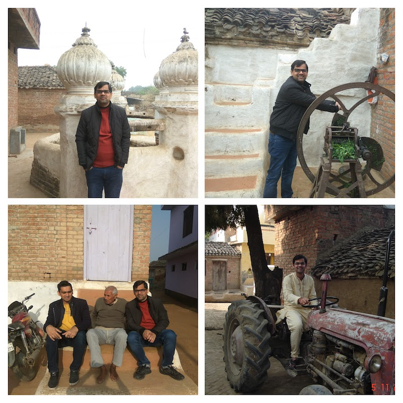 Prashant in his village - Back to roots where it all started