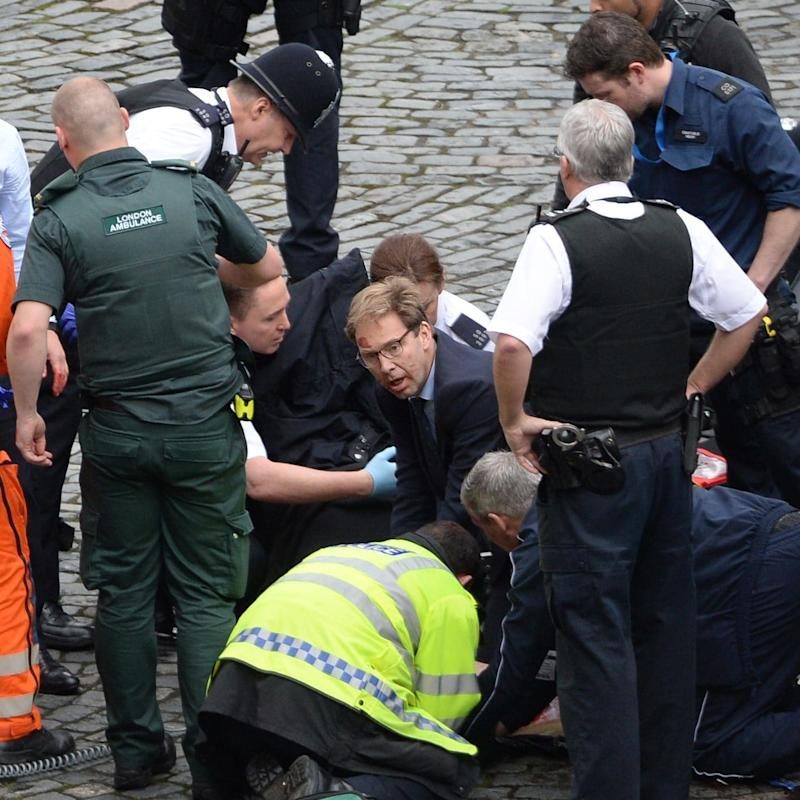 Hero MP Tobia Elwood gave Pc Palmer CPR at the scene  - Credit: PA