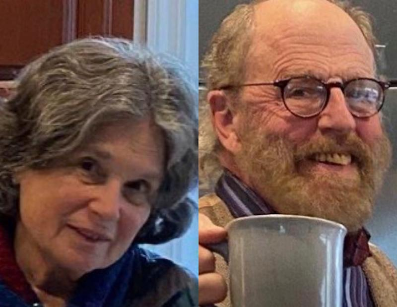 In these undated photos released by the Marin County Sheriff's Office are Carol Kiparsky and Ian Irwin, the married couple who vanished during a getaway in the woods of Northern California on Valentine's Day and were found more than a week later Saturday.