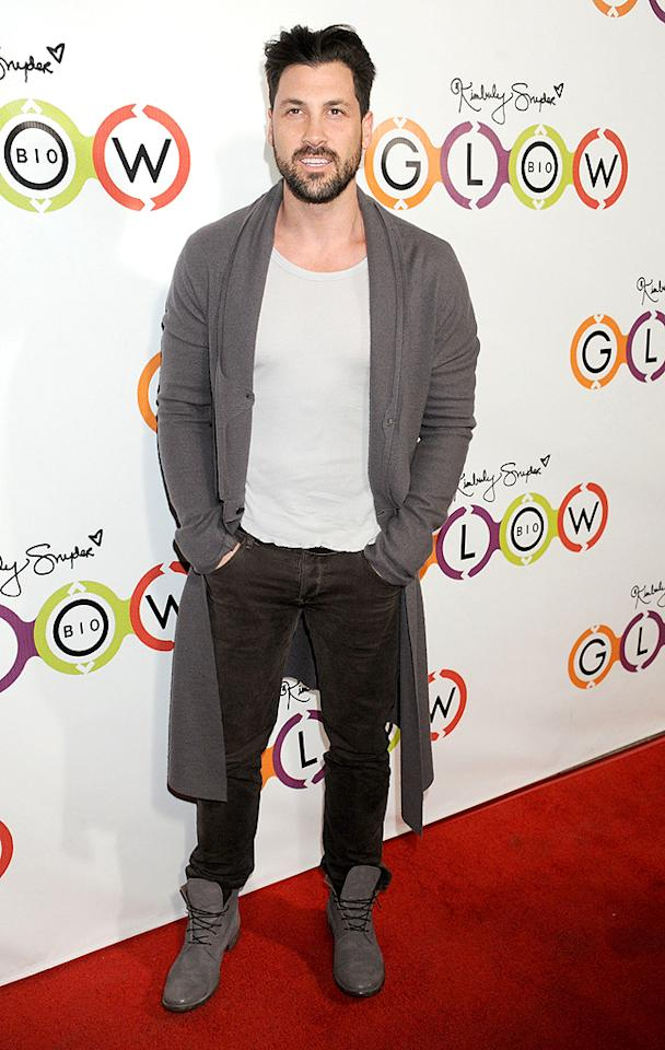 WEST HOLLYWOOD, CA - NOVEMBER 14:  Professional dancer Maksim Chmerkovskiy arrives at the opening of Kimberly Snyder's Glow Bio on November 14, 2012 in West Hollywood, California.  (Photo by Gregg DeGuire/WireImage)