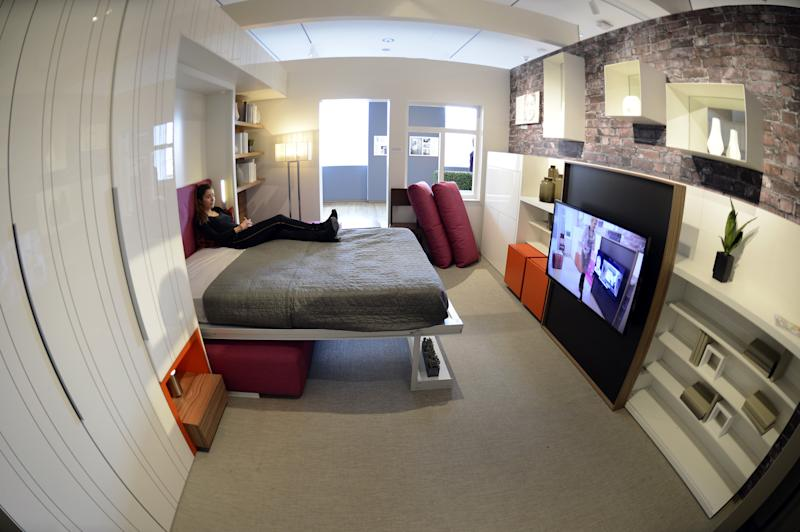 "A ""micro-unit"" at the Museum of the City of New York is pictured in New York, N.Y. in this January 2013 photo. Photo credit: TIMOTHY A. CLARY/AFP/Getty Images"