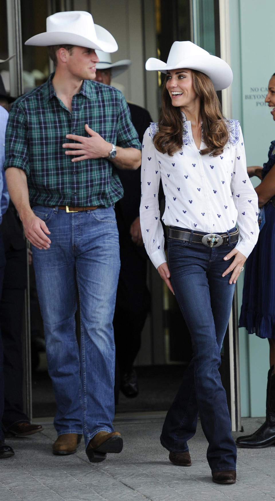 <p>The Duchess demonstrated how the royals tackle the western trend in a chic cowboy hat and flared jeans while on an engagement in Calgary. </p>